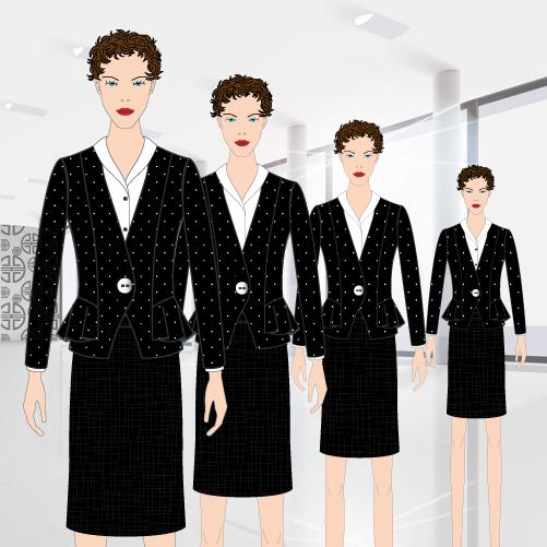 Les hôtesses et leurs tenues