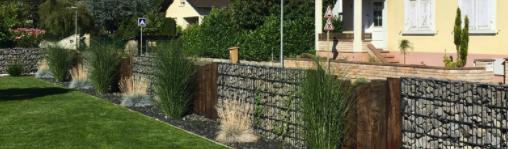Le mur Gabion, une clôture de Jardin tendance!