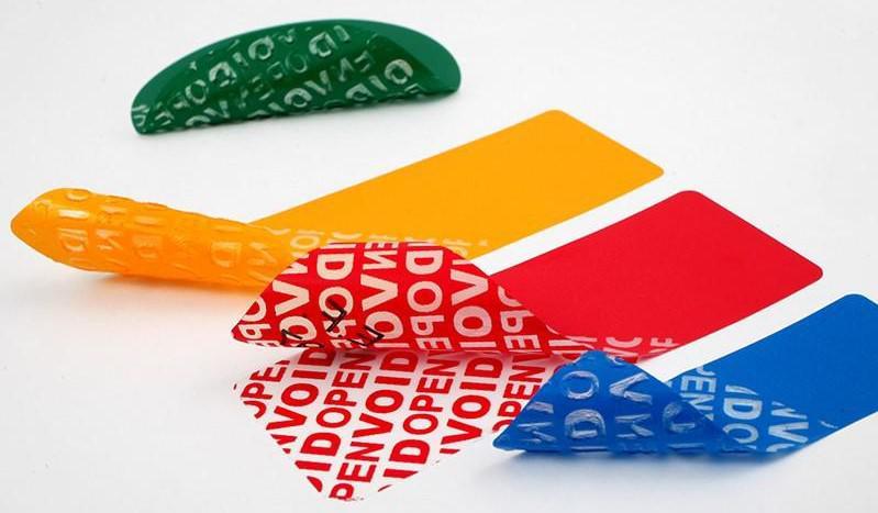 L'étiquette VOID de sécurité